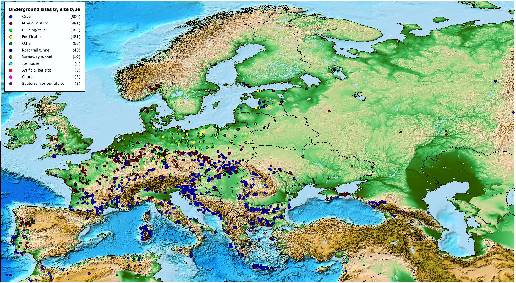 Conservation of Key Underground sites: the database | UNEP/EUROBATS