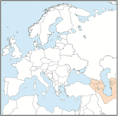 Distribution map of Barbastella darjelingensis