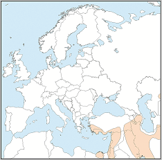 Distribution map of Eptesicus bottae