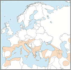 Distribution map of Hypsugo savii