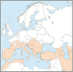 Distribution map of Miniopterus schreibersii