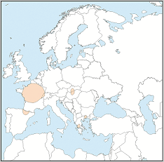 Distribution map of Myotis alcathoe