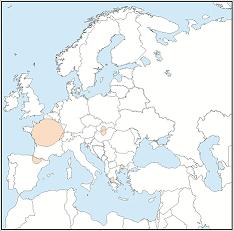 Distribution map of Myotis alcathoe