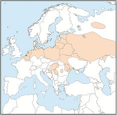 Distribution map of Myotis dasycneme