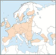 Distribution map of Myotis mystacinus