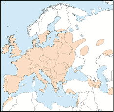 Distribution map of Myotis nattereri