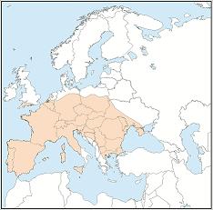 Distribution map of Plecotus austriacus