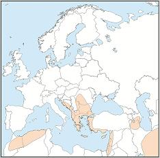 Rhinolophusblasii distribution map