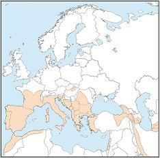 Rhinolophuseuryale distribution map