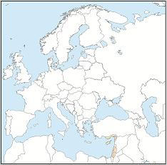 Distribution map of Rousettus aegyptiacus