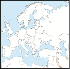 Distribution map of Taphozous nudiventris