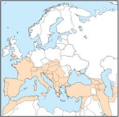 Rhinolophus ferrumequinum distribution map