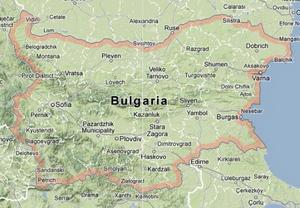 Bulgaria UNEPEUROBATS - Map of bulgaria